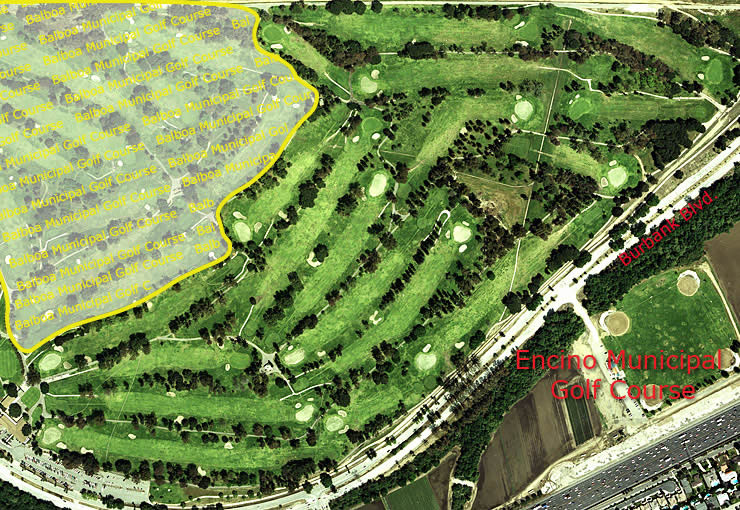 Encino Municipal Golf Course aerial view