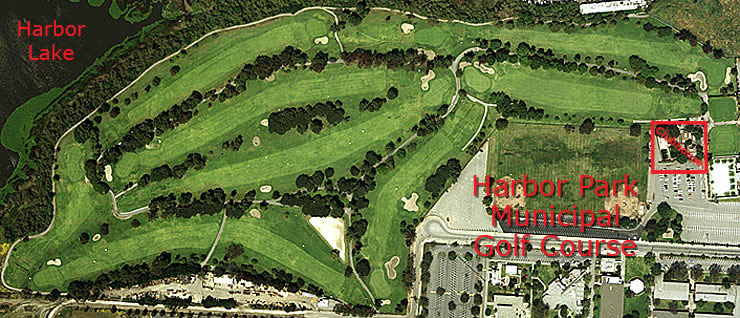 Harbor Park Municipal Golf Course aerial view