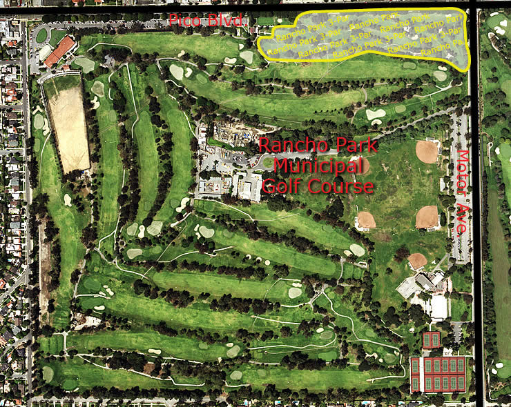 Rancho Park Municipal Golf Course aerial view