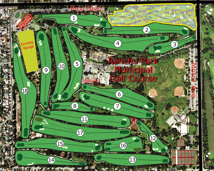 Rancho Park Municipal Golf Course combo view