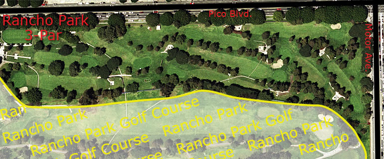 Rancho Park 3-Par Golf Course aerial view