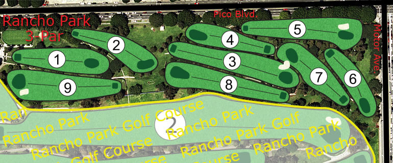 Rancho Park 3-Par Golf Course combo view