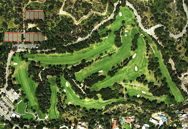 Roosevelt Municipal Golf Course aerial view