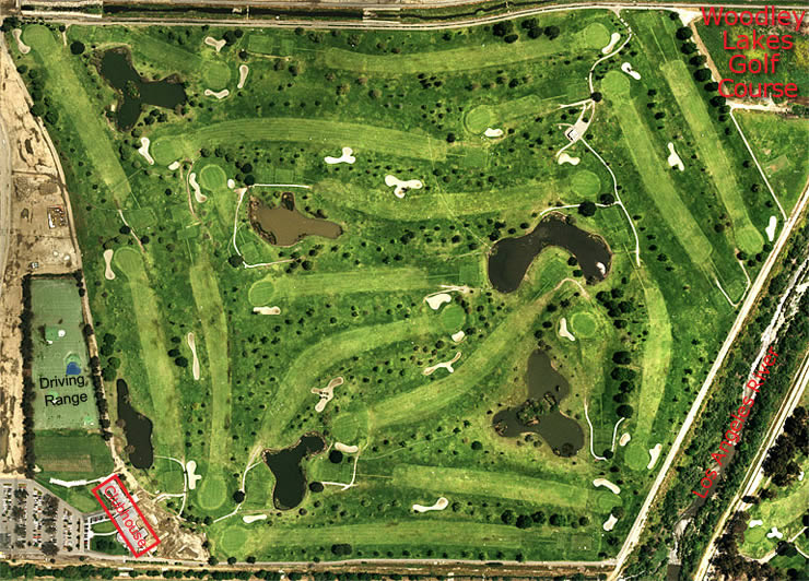 Woodley Lakes Golf Course aerial view